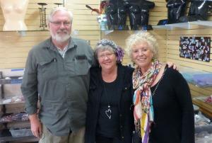 Rosie (center), Mr. Rosie, and me.