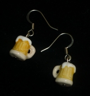 Photo of beer stein earrings