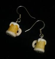 Photo of beer stein earrings
